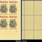 1982 USA MNH Sc# 2010 Plate# Block of Four – 20c Horatio Alger - 1982 Commemoratives