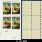 1983 USA MNH Sc# 2063 Pl# Blk of 4 – 20c Madonna by Raphael - 1983 Christmas Issue