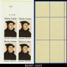 1983 USA MNH Sc# 2065 Plate# Block of Four – 20c Martin Luther - 1983 Commemoratives