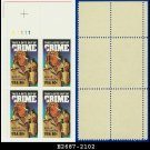 1984 USA MNH Sc# 2102 Plate# Block of Four – 20c McGruff, The Crime Dog – 1984 Commemoratives
