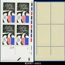 1989 USA MNH Sc# 2421 Plate# Block of Four – 25c Bill of Rights – 1989 Commemoratives
