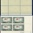1963 USA MNH Sc# 1239 Plate# Block of Four – 5c Red Cross Centennial  – 1963 Commemoratives