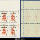 1965 USA MNH Sc# 1263 Pl# Blk of 4 – 5c Stethoscope & Microscope – 1965 Crusade Against Cancer
