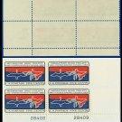 1966 USA MNH Sc# 1306 Plate# Block of Four – 5c Migratory Bird Treaty – 1966 Commemoratives