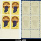1966 USA MNH Sc# 1308 Plate# Block of Four – 5c Indiana Statehood – 1966 Commemoratives