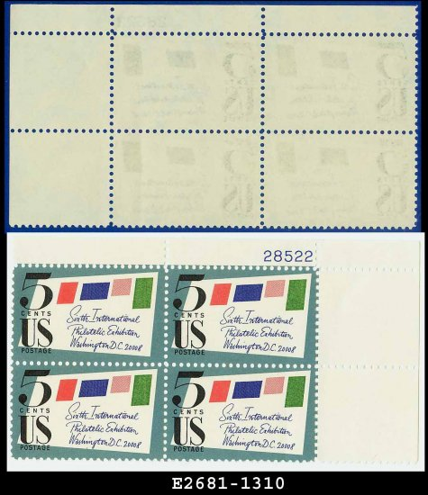 1966 USA MNH Sc# 1310 Plate# Block of Four � 5c Stamped Cover � 1966 SIPEX Single Stamp