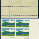 1967 USA MNH Sc# 1324 Plate# Block of Four – 5c Canadian Landscape – 1967 Commemoratives