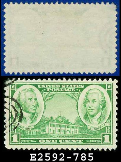 1936-37 USA USED Scott# 785 � 1c Washington & Greene � Army-Navy War Heroes Issue