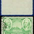 1936-37 USA USED Scott# 785 – 1c Washington & Greene – Army-Navy War Heroes Issue