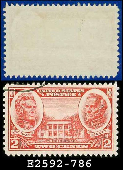 1936-37 USA USED Scott# 786 � 2c Jackson & Scott � Army-Navy War Heroes Issue