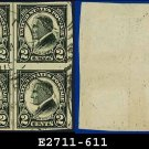 1923 USA NH Scott# 611 USED Block of Four – 2c W G Harding – Harding Memorial Series
