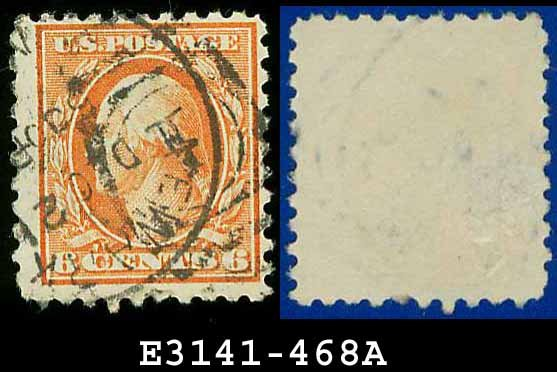 1916-17 USA USED Scott# 468 � 6c Red Orange Washington � 1916-17 Regular Issue