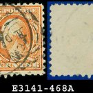 1916-17 USA USED Scott# 468 – 6c Red Orange Washington – 1916-17 Regular Issue