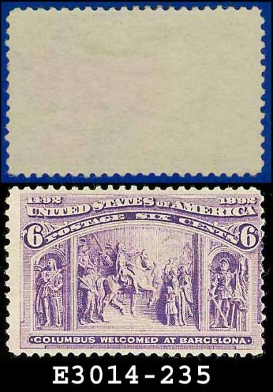 1893 USA USUSED Scott# 235 � 6c Columbus Welcomed at Barcelona � 1893 Columbians