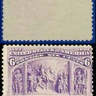 1893 USA USUSED Scott# 235 – 6c Columbus Welcomed at Barcelona – 1893 Columbians