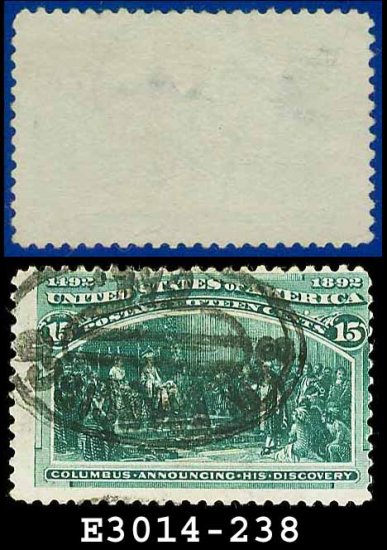 1893 USA USED Scott# 238 � 15c Announcing His Discovery � 1893 Columbians