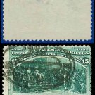 1893 USA USED Scott# 238 – 15c Announcing His Discovery – 1893 Columbians
