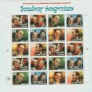 1999 USA MNH UNUSED Scott# 3345-50 – 33c Broadway Songwriters Sheet of 30 Stamps E2703