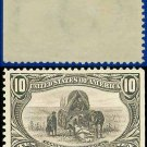 1898 USA UNUSED Scott# 290 – 10c Hardships of Emigration – Trans-Mississippi Series