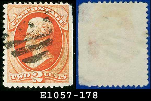 1875 USA USED Scott# 178 � 2c Vermillion Jackson American rinting� 1875 Regular Issue