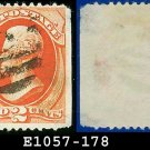 1875 USA USED Scott# 178 – 2c Vermillion Jackson American rinting– 1875 Regular Issue