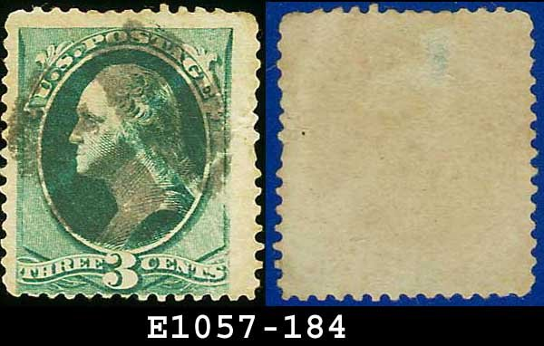 1879 USA USED Scott# 184 � 3c Green Washington � American Bank Note Printing
