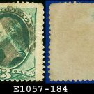 1879 USA USED Scott# 184 – 3c Green Washington – American Bank Note Printing