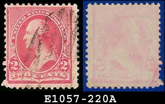 1890-93 USA USED Scott# 220 � 2c Carmine Washington � 1890-93 Regular Issue