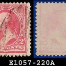 1890-93 USA USED Scott# 220 – 2c Carmine Washington – 1890-93 Regular Issue