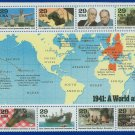 1991 USA MNH UNUSED Scott# 2559 – 1941 WWII Souvenir Sheet E3145