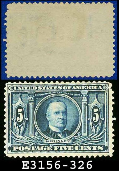 1904 USA UNUSED Scott# 326 � 5c Blue McKinley � 1904 Louisiana Purchase Issue
