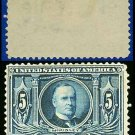 1904 USA UNUSED Scott# 326 – 5c Blue McKinley – 1904 Louisiana Purchase Issue