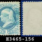1873 USA USED Scott# 156 – 1c Ultramarine Franklin – 1873 Continental Bank Note Printing