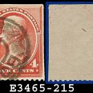 1888 USA USED Scott# 215 – 4c Carmine Jackson – 1888 Regular Issue