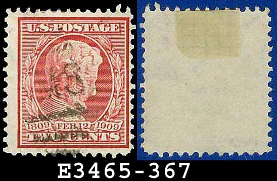 1909 USA USED Scott# 367 � Carmine Abe Lincoln � 1909 Lincoln Memorial Issue
