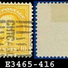 1912-14 USA USED Scott# 416 – 10c Orange Yellow Franklin – 1912-14 Regular Issue