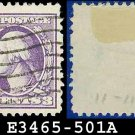1917-19 USA USED Scott# 501 – 3c Violet Washington – 1917-19 Regular Issue