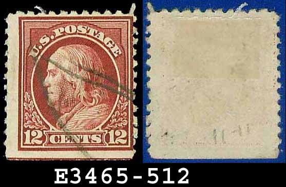 1917-19 USA USED Scott# 512 � 12c Claret Brown Franklin � 1917-19 Regular Issue