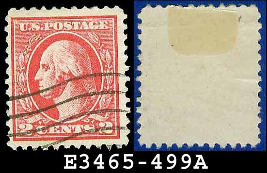 1916-17 USA USED Scott# 499 � 2c Rose Washington � 1916-17 Regular Issue