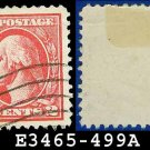 1916-17 USA USED Scott# 499 – 2c Rose Washington – 1916-17 Regular Issue