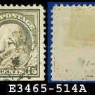 1917-19 USA USED Scott# 514 – 15c Gray Franklin – 1917-19 Regular Issue