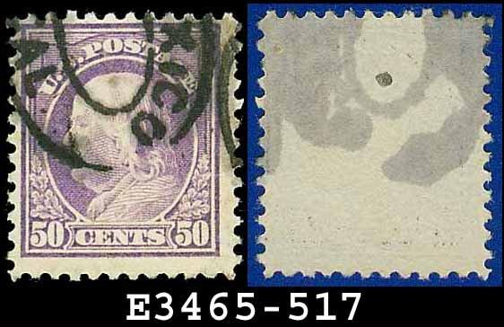 1917-19 USA USED Scott# 517 � 50c Red Violet Franklin � 1917-19 Regular Issue