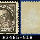 1917-19 USA USED Scott# 518 – $1 Violet Brown Franklin – 1917-19 Regular Issue