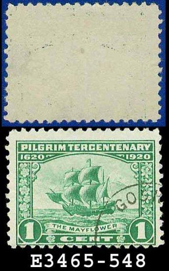 1920 USA USED Scott# 548 � 1c The Mayflower � 1920 Pilgrim Tercentenary Issue