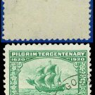 1920 USA USED Scott# 548 – 1c The Mayflower – 1920 Pilgrim Tercentenary Issue
