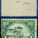 1924 USA USED Scott# 614 – 1c Ship Nieu Nederland – Huguenot-Walloon Issue