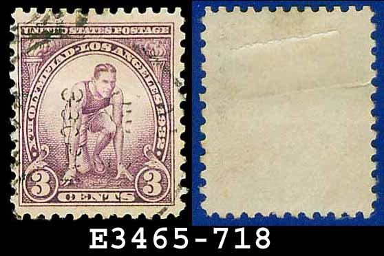 1932 USA USED Scott# 718 � 3c Runner � 1932 Commemoratives Summer Olympic Games