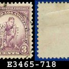 1932 USA USED Scott# 718 – 3c Runner – 1932 Commemoratives Summer Olympic Games