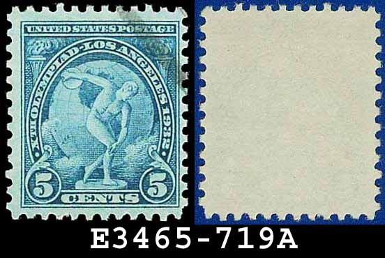 1932 USA USED Scott# 719 � 5c Discus Thrower � 1932 Commemoratives Summer Olympic Games