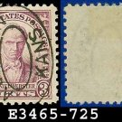 1932 USA USED Scott# 725 – 3c Violet Webster – 1932 Commemoratives